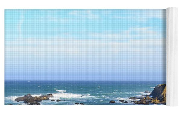 Point Arena Lighthouse Yoga Mat by Jim Thompson