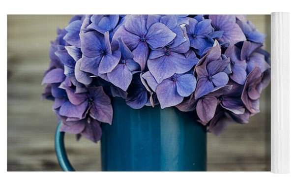 Hortensia Flowers Yoga Mat by Nailia Schwarz