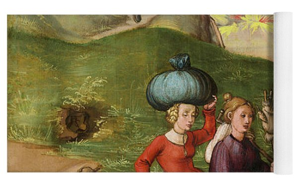 Lot And His Daughters Yoga Mat by Albrecht Durer