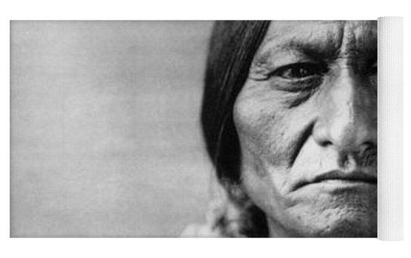 Sitting Bull 1834-1890. To License For Professional Use Visit Granger.com Yoga Mat by Granger