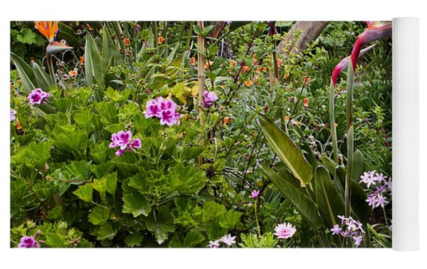 A Riot Of Flowers Yoga Mat by Lorraine Devon Wilke
