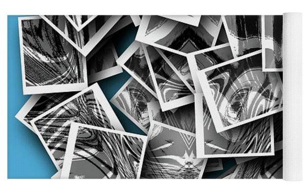 Abraxas Collage Yoga Mat by Visual Artist Frank Bonilla