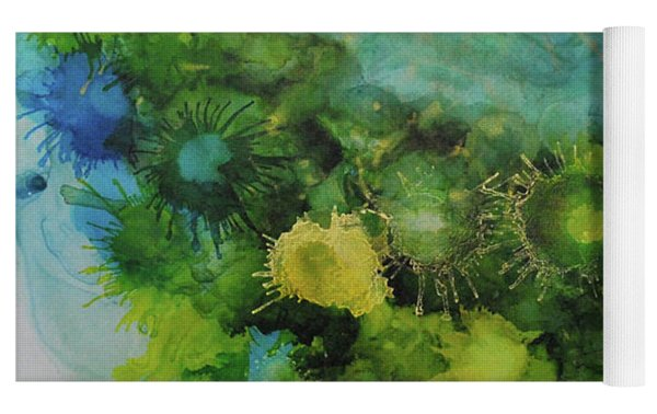 Alcohol Ink 1 Yoga Mat by Kate Word