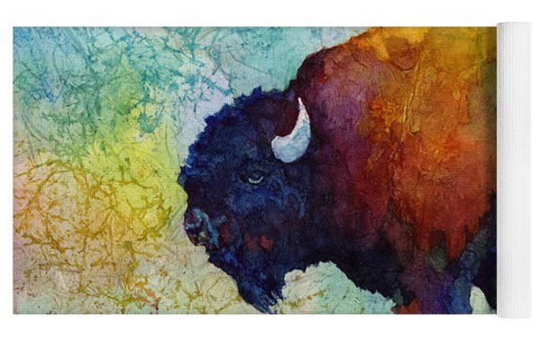 American Buffalo 5 Yoga Mat by Hailey E Herrera
