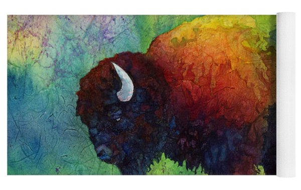 American Buffalo 6 Yoga Mat by Hailey E Herrera