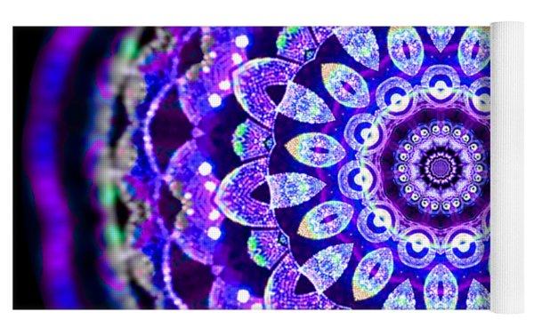 Ammersee Cropcircle Lightmandala Morph Yoga Mat by Robert Thalmeier
