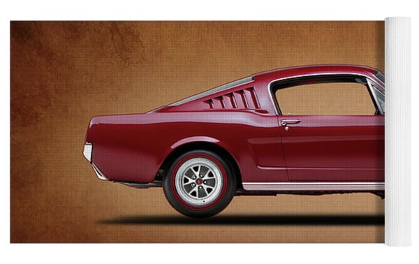 Ford Mustang Fastback 1965 Yoga Mat by Mark Rogan