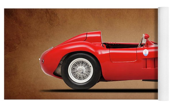Maserati 300s 1956 Yoga Mat by Mark Rogan