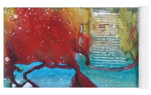 Atlantis Crashing Into The Sea Yoga Mat by Ruth Kamenev