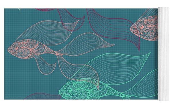 Beta Fish  Yoga Mat by Mark Ashkenazi