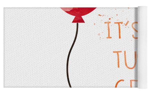 Biggest Balloon- Card Yoga Mat by Linda Woods