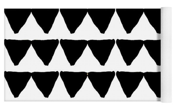 Black And White Triangles- Art By Linda Woods Yoga Mat by Linda Woods