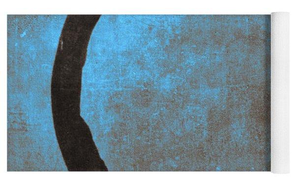 Blue Brown Enso Yoga Mat