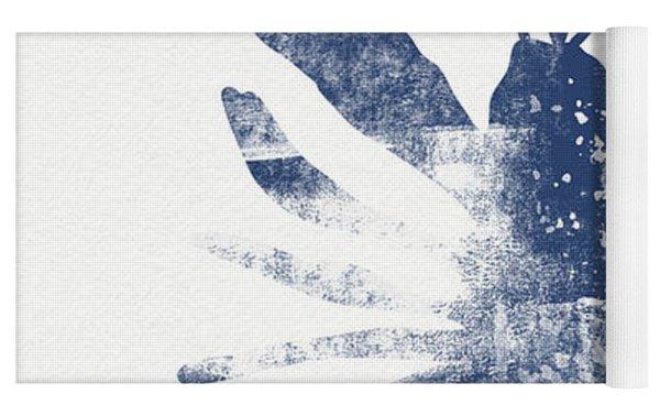 Blue Lobster- Art By Linda Woods Yoga Mat