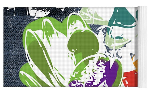 Bold Succulents 1- Art By Linda Woods Yoga Mat