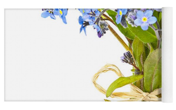 Bouquet Of Forget-me-nots Yoga Mat