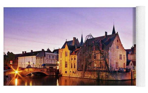 Bruges At Dusk Yoga Mat by Barry O Carroll