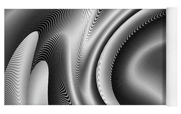 Bw Art 2 Yoga Mat by Visual Artist Frank Bonilla