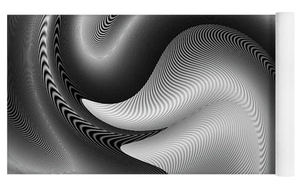 Bw Art 9 Yoga Mat by Visual Artist Frank Bonilla