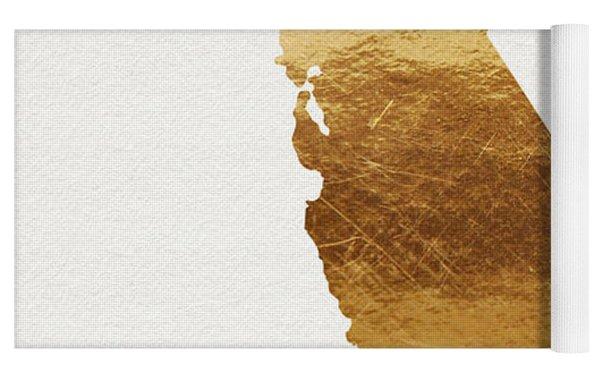 California Gold- Art By Linda Woods Yoga Mat by Linda Woods