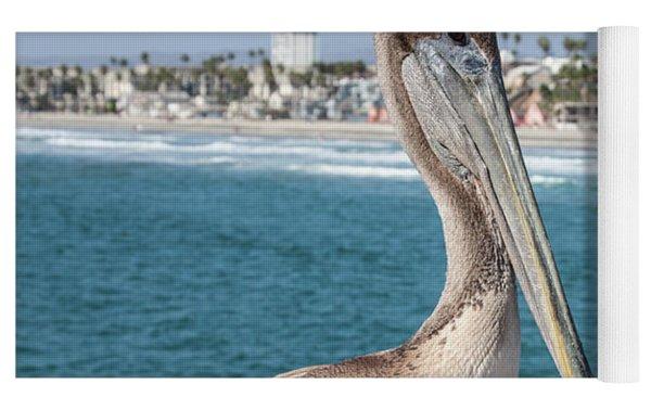 California Pelican Yoga Mat by John Wadleigh