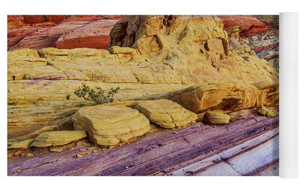 Candy Cane Desert Yoga Mat