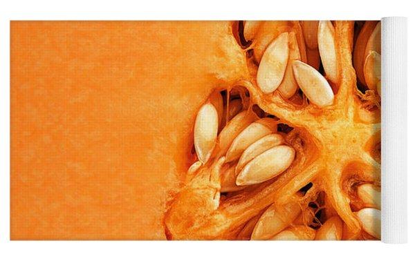 Cantaloupe Melon Inside Yoga Mat by Johan Swanepoel