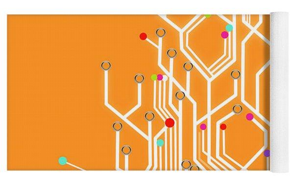 Circuit Board Graphic Yoga Mat