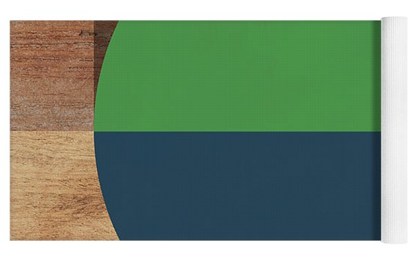 Cirkel Blue And Green- Art By Linda Woods Yoga Mat by Linda Woods