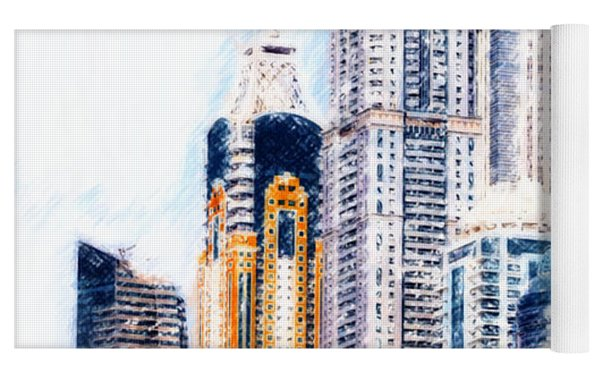 City Abstract Yoga Mat by Chris Armytage