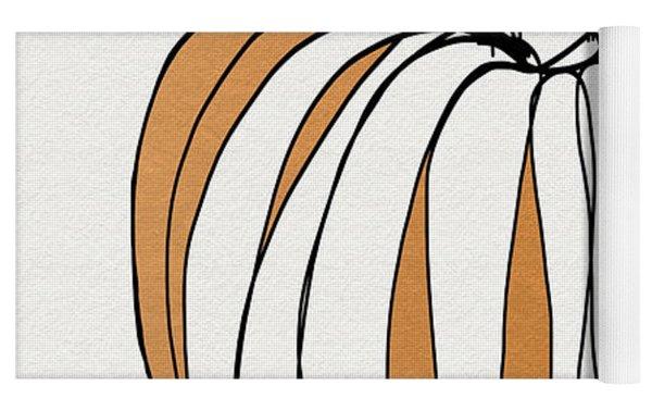 Contemporary Pumpkin- Art By Linda Woods Yoga Mat
