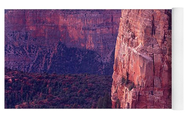 Dawn Mount Hayden Point Imperial North Rim Grand Canyon National Park Arizona Yoga Mat by Dave Welling