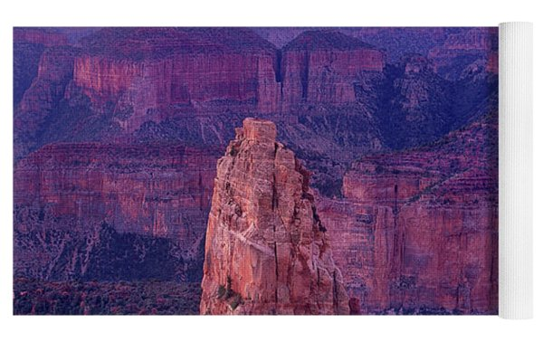 Dawn Mount Hayden Sunrise North Rim Grand Canyon Arizona Yoga Mat by Dave Welling