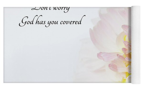 Don't Worry Yoga Mat by Mary Jo Allen