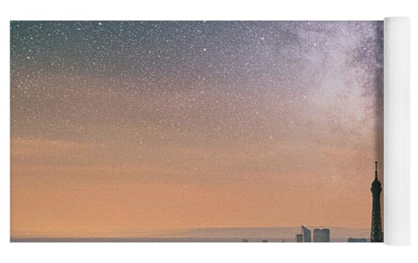 Earth Hour In Paris Yoga Mat by Darren White