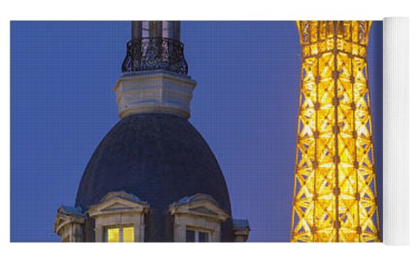 Eiffel Tower From Passy Yoga Mat by Brian Jannsen