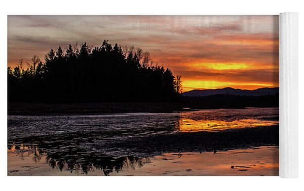 Fern Ridge Sunset 1 Yoga Mat by Michael Cross
