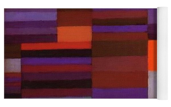 Fire In The Evening Yoga Mat by Paul Klee