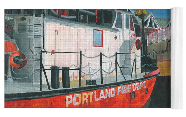 Fireboat And Ferries Yoga Mat by Dominic White
