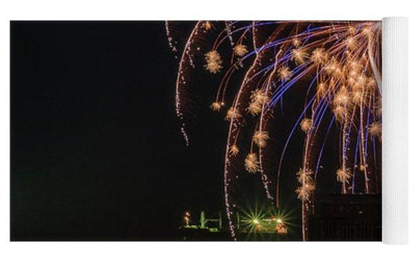 Fireworks Riot Yoga Mat by Robert Potts