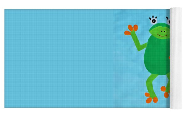 Froggie Yoga Mat by Deborah Boyd