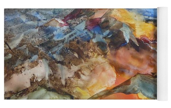 Glacial Meltdown Yoga Mat by Ruth Kamenev