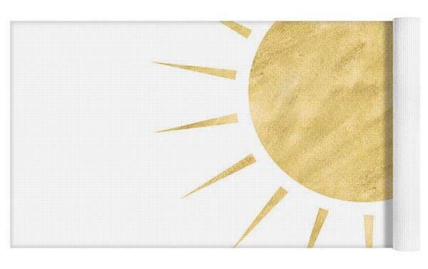 Gold Sun- Art By Linda Woods Yoga Mat by Linda Woods