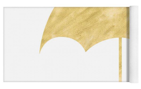 Gold Umbrella- Art By Linda Woods Yoga Mat by Linda Woods