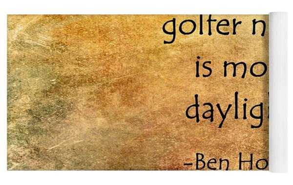 Golf Quote Yoga Mat by Marian Palucci-Lonzetta
