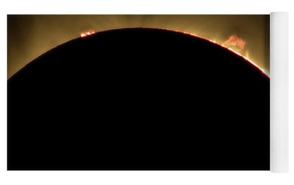 Great American Eclipse 16x9 Prominence As Seen In Albany, Oregon. Yoga Mat by John King