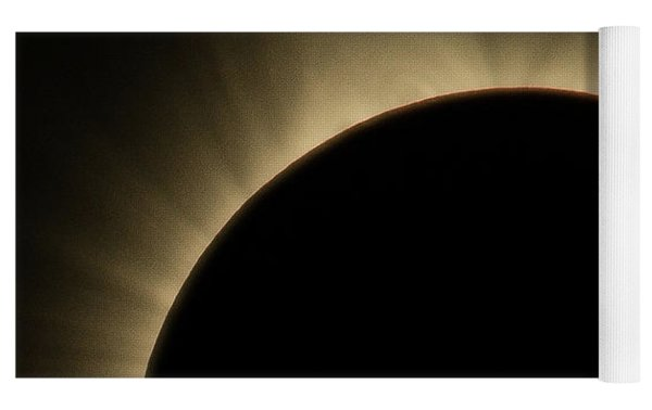 Great American Eclipse Prominence 16x9 Totality Prominence 16x9 As Seen In Albany, Oregon. Yoga Mat by John King