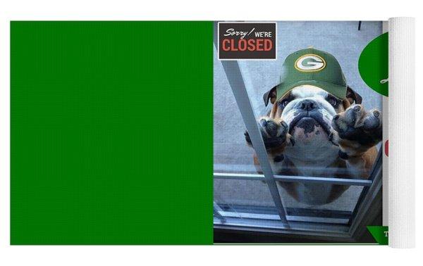 Green Bay Packers Yoga Mat by Kathy Tarochione