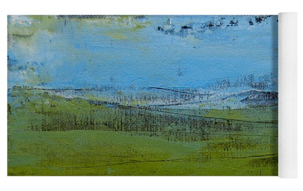 Green Pastures 1 Yoga Mat by Jani Freimann