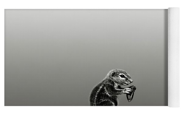 Ground Squirrel Yoga Mat by Johan Swanepoel